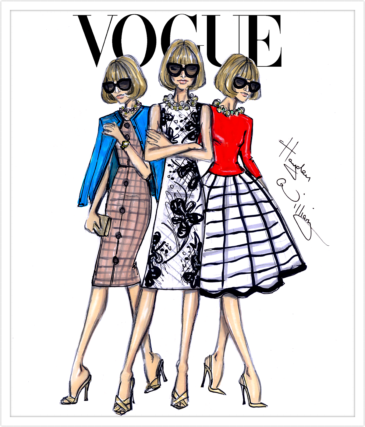 Hayden Williams Fashion Illustrations: Anna Wintour x3 by ...