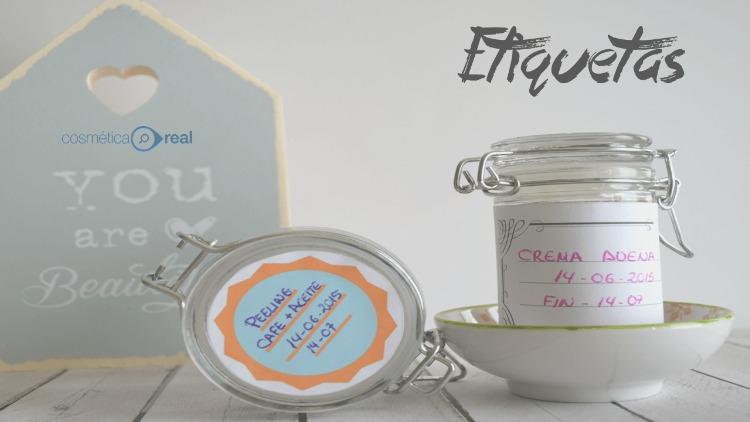 Etiquetas para cosmetica casera