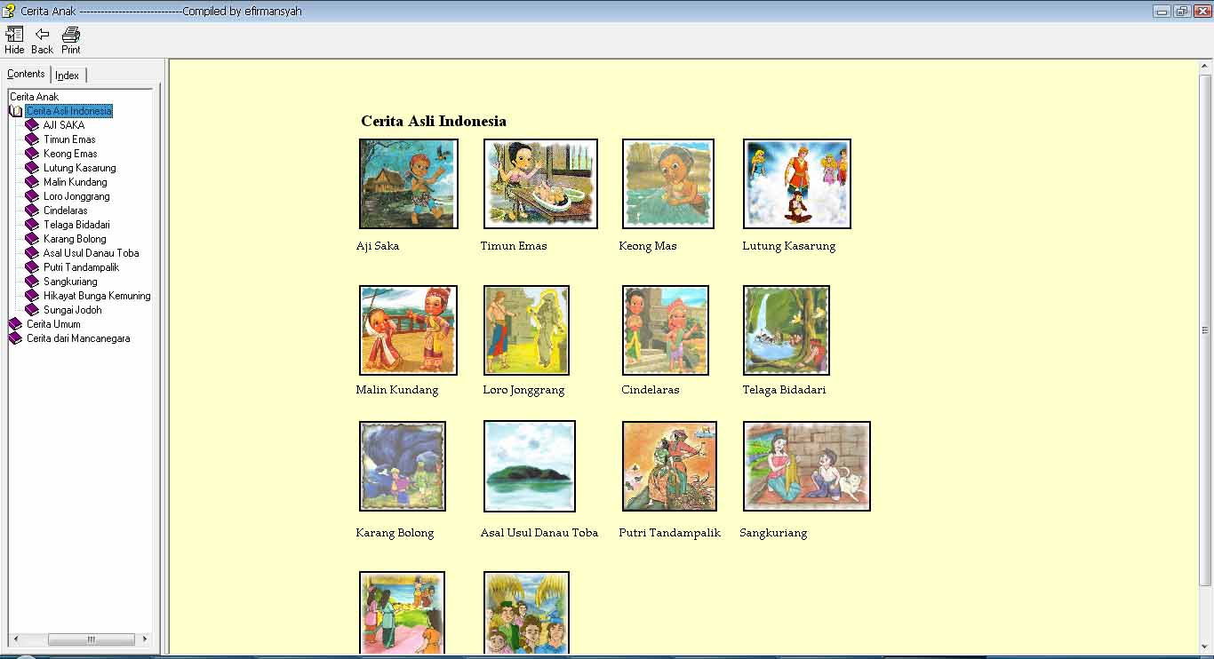 Bacaan anak anak kita karena isinya cerita beragam mulai dari cerita