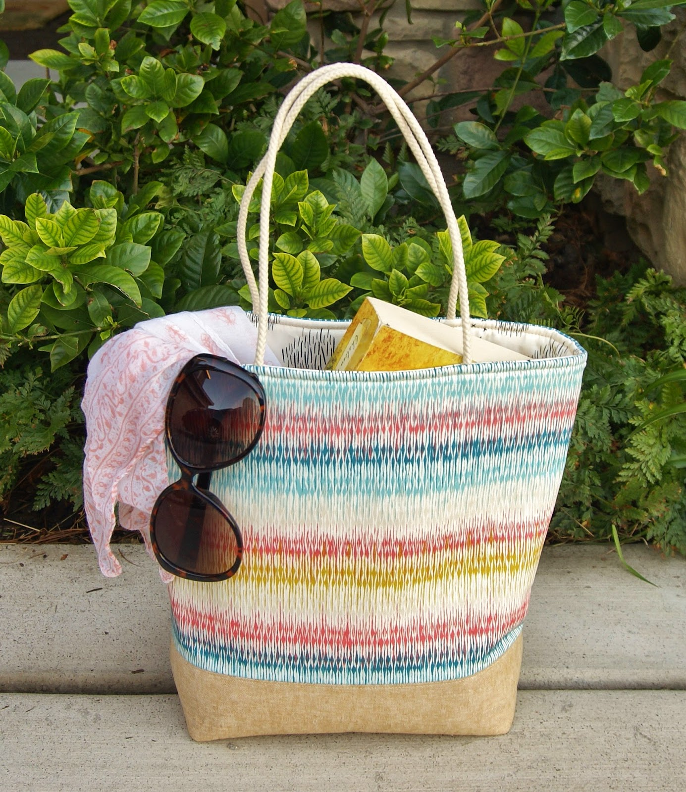 Laguna Beach Mini Tote by Fabric Mutt featuring Etno for Art Gallery Fabrics