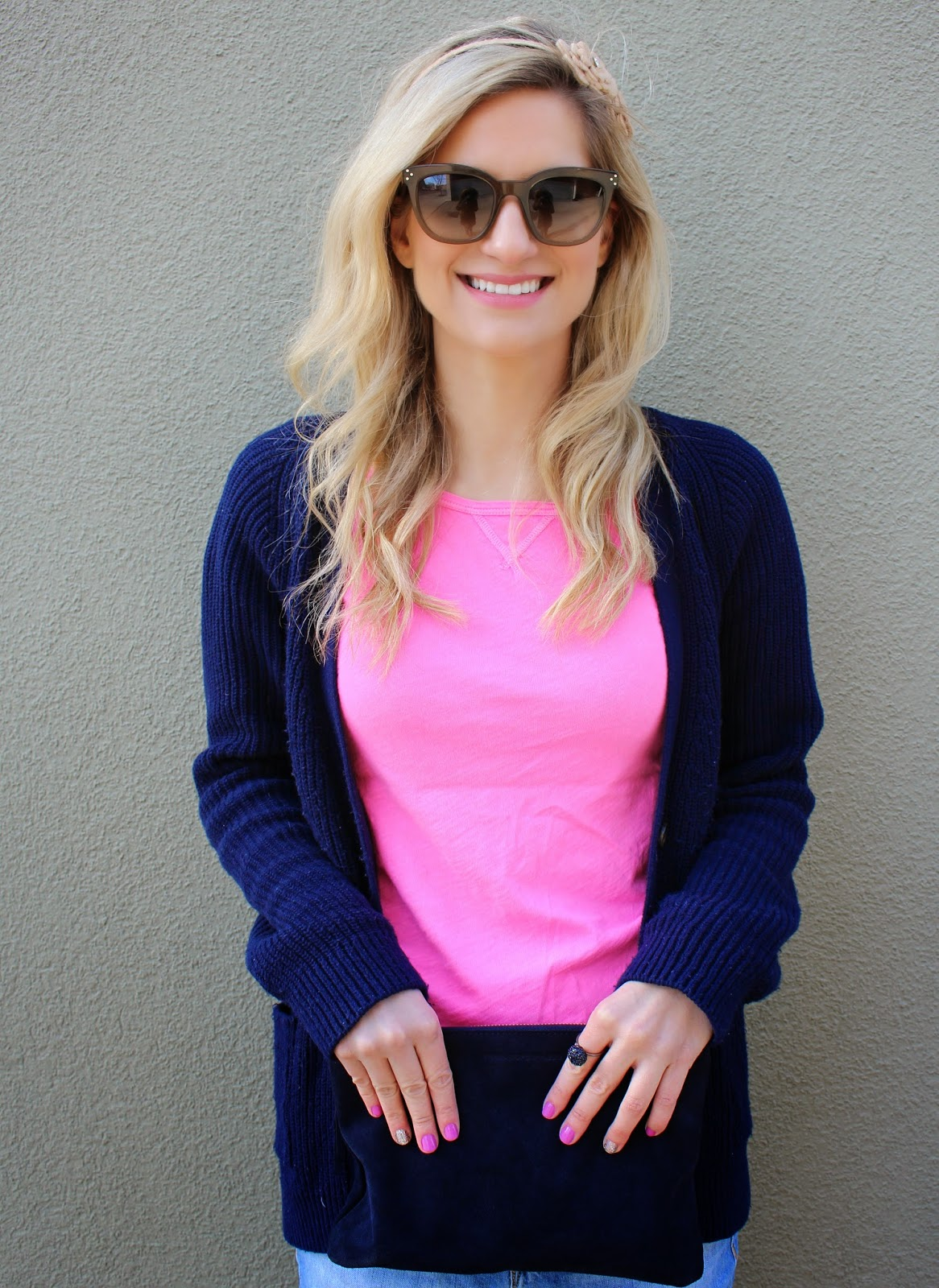 bijuleni - pink JCrew top