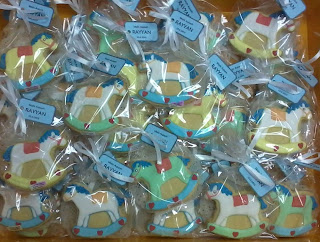 Fancy cookies baby theme rocking horse
