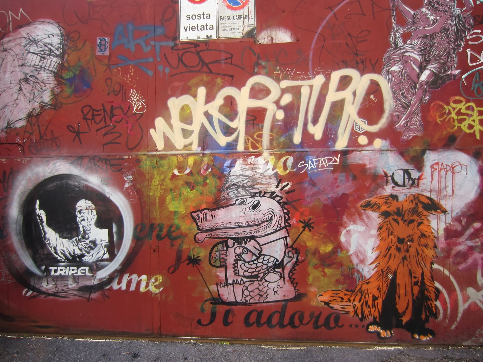 If there had been a app or a street art walking tour of rome we would have signed up but we couldnt find anything so we had to make our own as