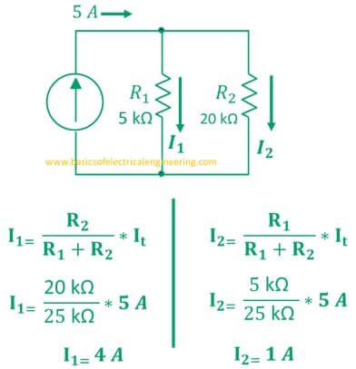 current divider rule statement formula examples and derivation rh basicsofelectricalengineering com Parallel Circuit Resistance vs Current Parallel Circuit Resistance vs Current
