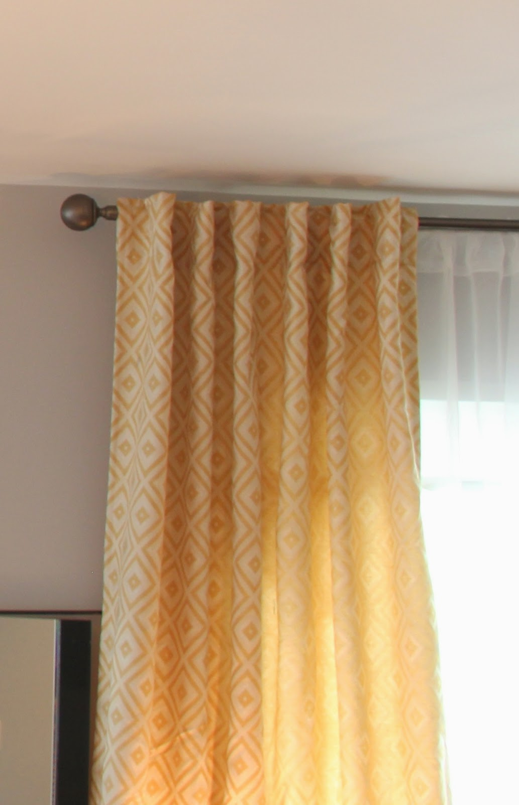 Sheer Serendipity How To Make A Tab Top Curtain Diy