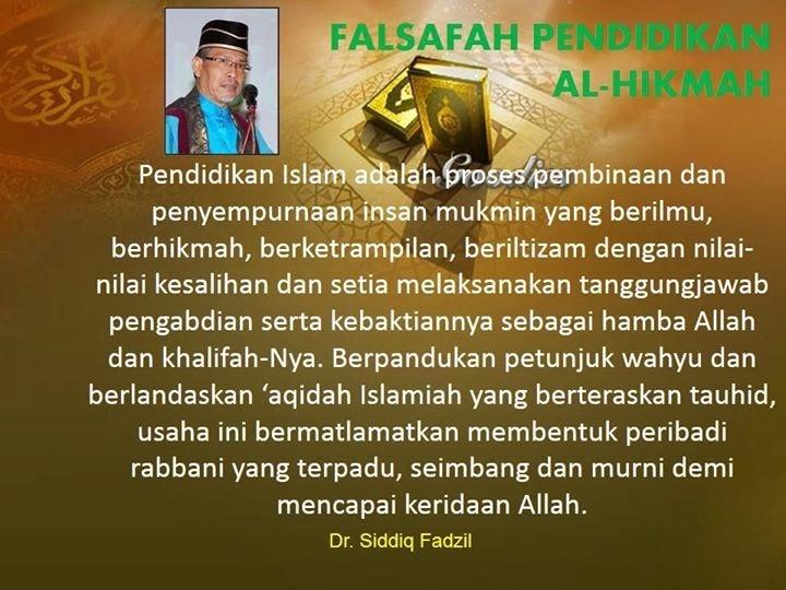 FALSAFAH PENDIDIKAN AL HIKMAH
