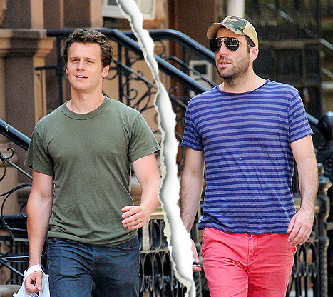 Zachary Quinto  r   and Jonathan Groff reportedly broke up Jonathan Groff Boyfriend Zachary Quinto