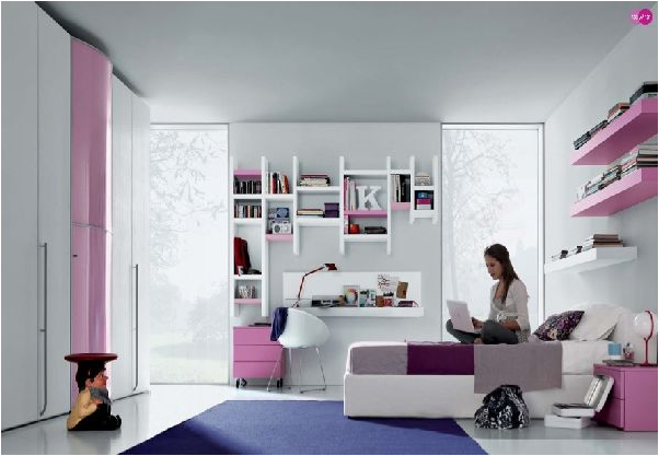 Cool modern teen girl bedrooms room design ideas - Modern girls bedroom design ...