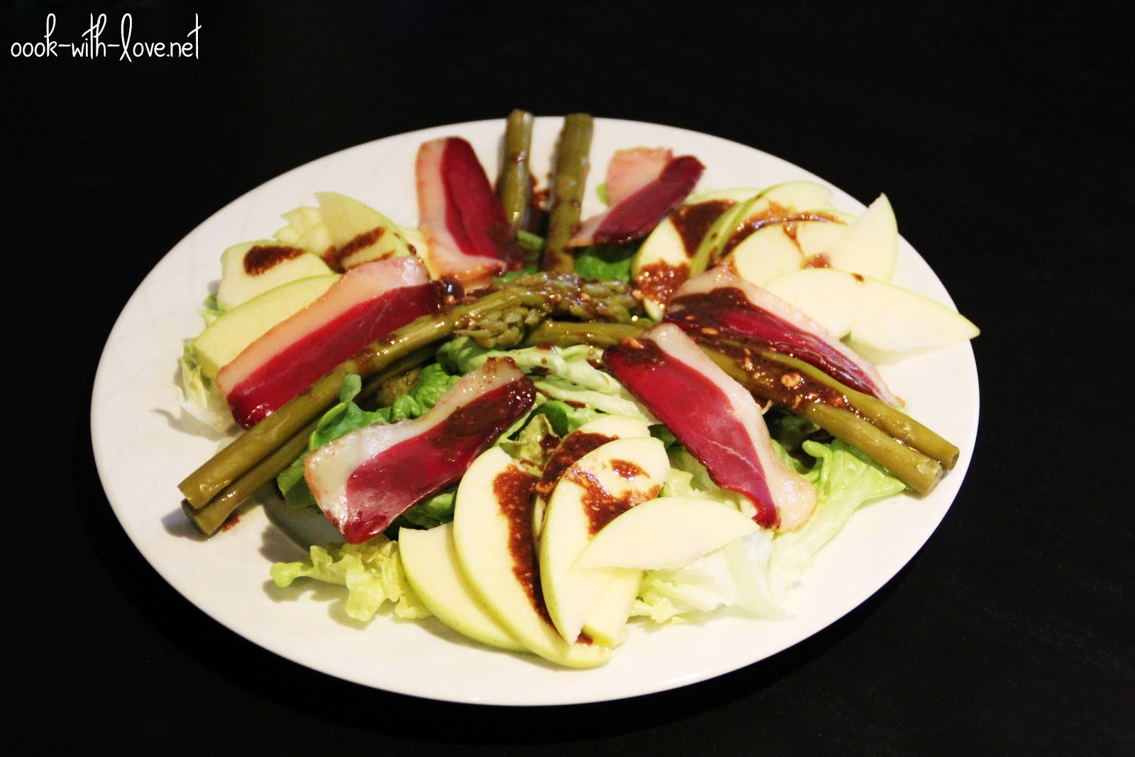 Salade compos e asperges vertes magret de canard s ch for Salade en entree originale