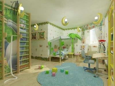 dormitorio moderno niña fotomural