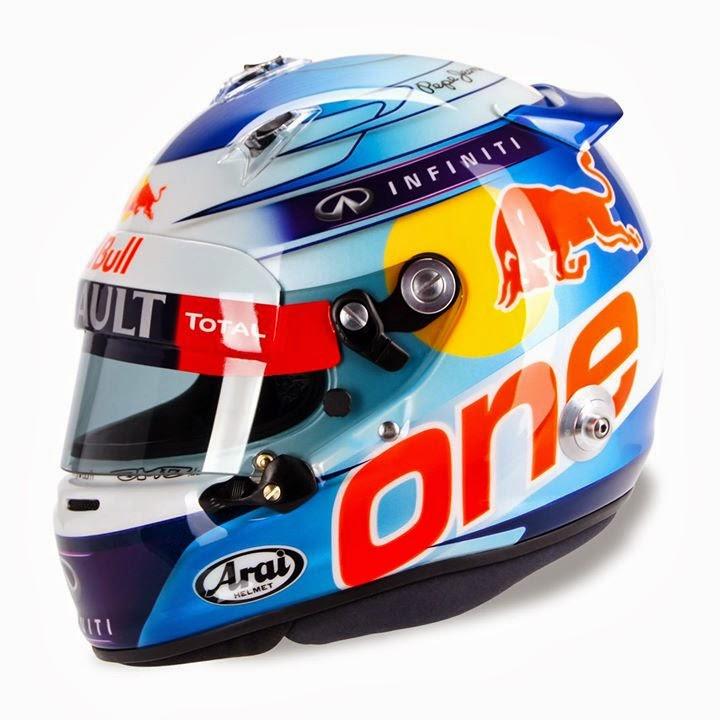 Sebastian Vettel Helmet 2014 CAPACETES F1: Capacete...