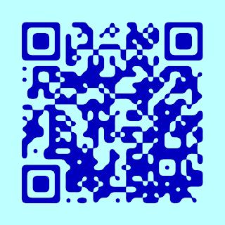 blue QR-code art