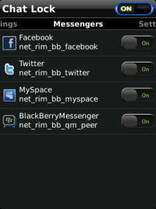 Chat Lock For Blackberry