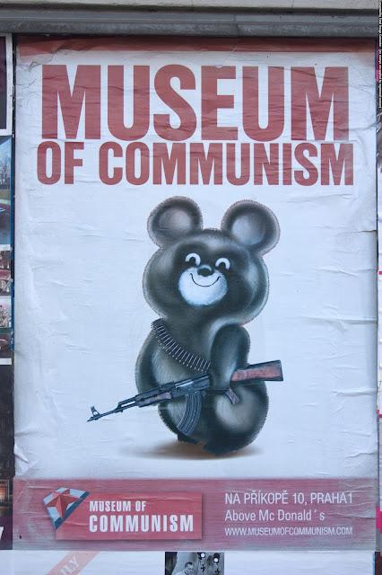Музей коммунизма, Прага, Чехия. Museum of communism, Prague, Czech Republic.