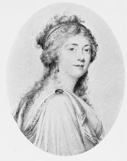Georgiana, Duchess of Devonshire,  from a miniature by Antonio Fattori  from Lord Granville Leveson Gower,   private correspondence 1781 to 1821 (1916)