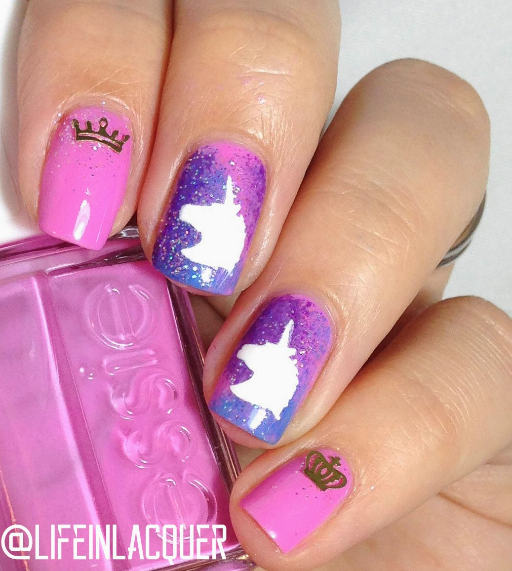 Fantasy Unicorn Nail Art - Life In Lacquer: Fantasy Unicorn Nail Art