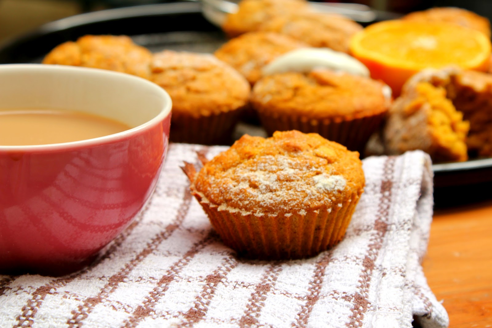 Light Perspective: Zesty Orange & Mango Breakfast Muffins
