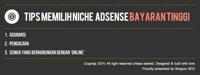 Niche Blog Bagus Bayaran Tinggi Untuk Adsense