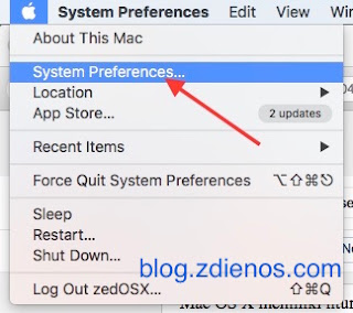 Mengakses Mac OS X melalui Screen Sharing - System Preferences