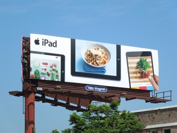 iPad recipe billboard Summer 2013
