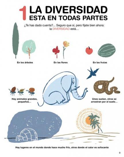 A través de la imagen de una flor un elefante, los árboles...