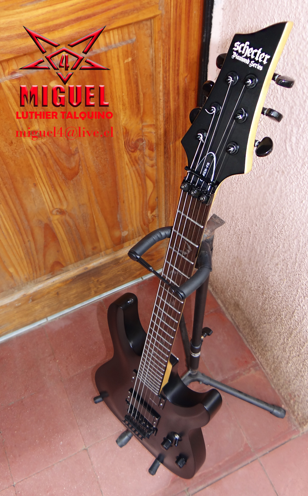 Luthier miguel4 talca guitarra electrica schecter for Luthier guitarra electrica