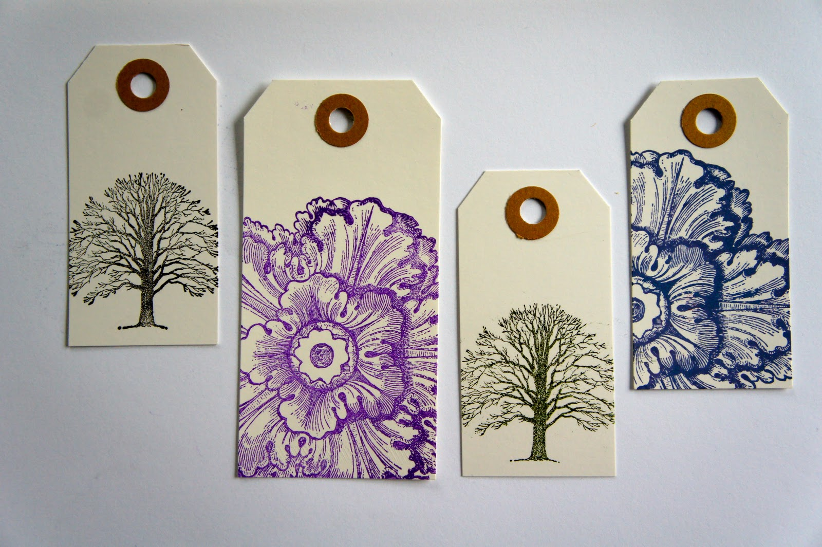 Rubber Stamp Art Projects Ideas from the forest:...