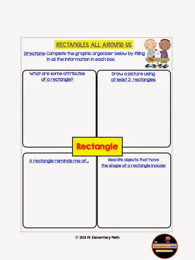 3rd Grade Geometry Interactive Notebook - Mr Elementary Math