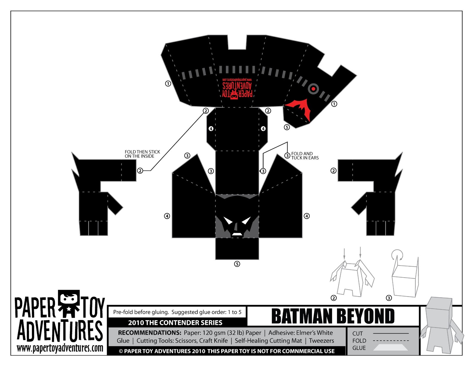 demon works one page papercraft templates