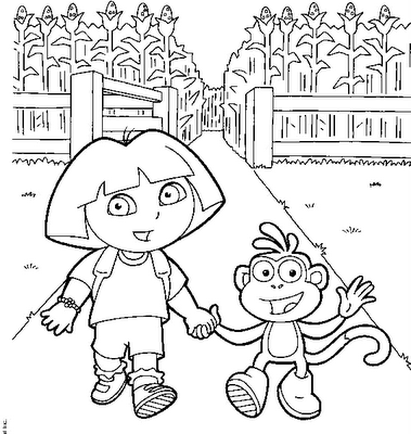 Dibujos animados para colorear dora la exploradora para - Dora coloriage ...