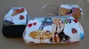 Bolsa, Porta moedas e bolsa óculos