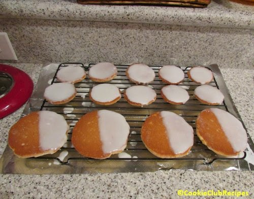 mini and large cookies on cooling rack