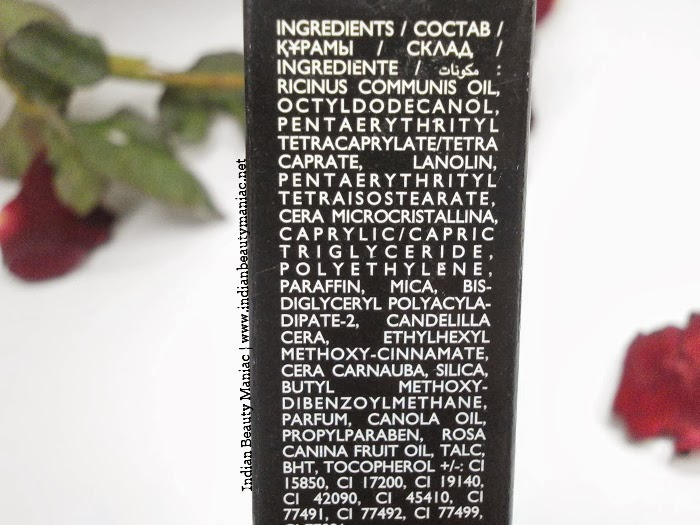 Oriflame Studio Artist Lipstick in Pink Nude Ingredients List