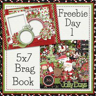 Jolly Days 5x7 Brag Book Day 1
