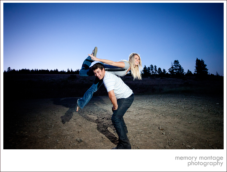 yakima photographer fun engagement photo