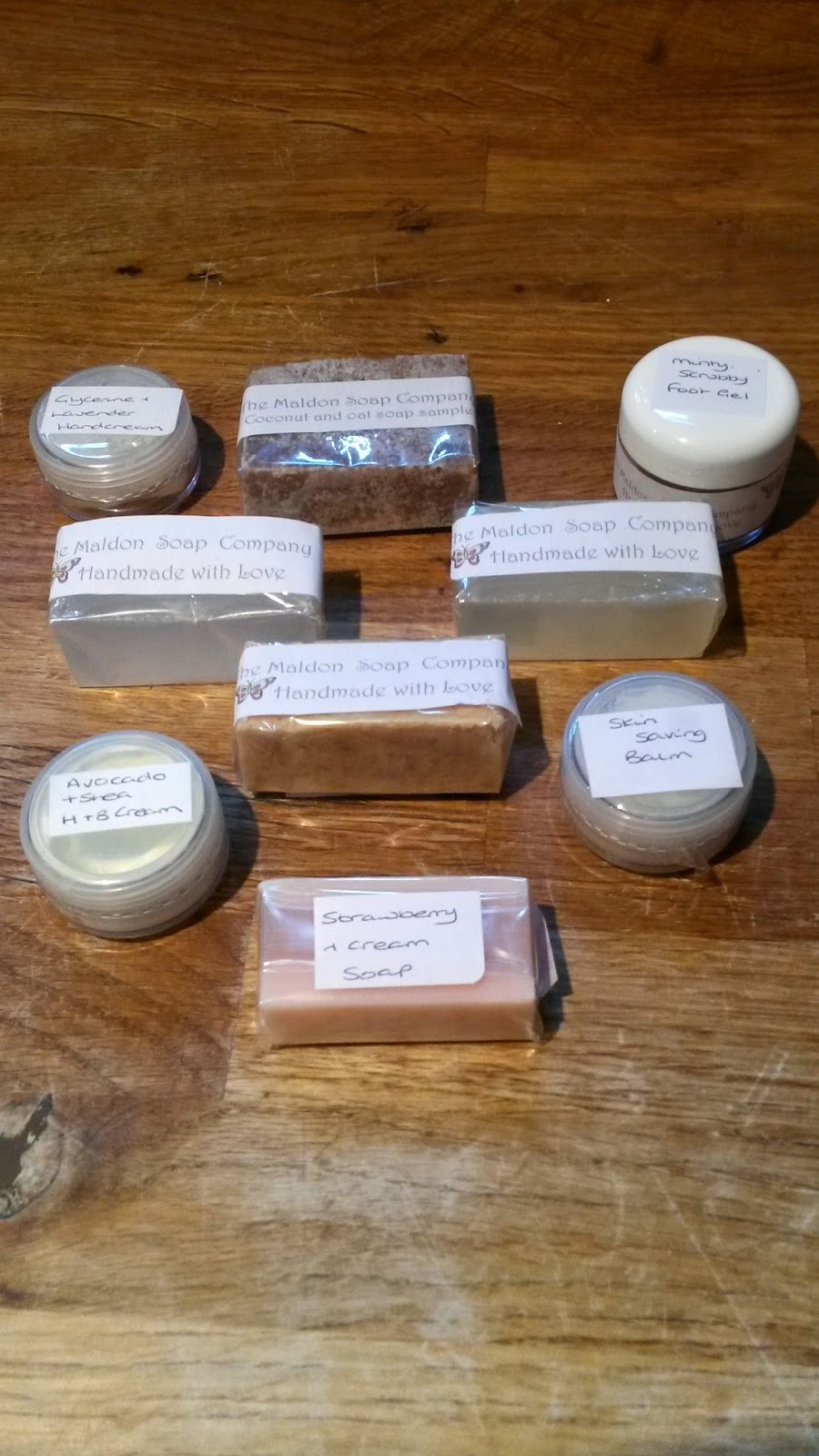 Maldon Soap Samples