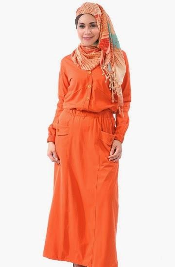 Contoh Fashion Baju Muslim Remaja Gamis