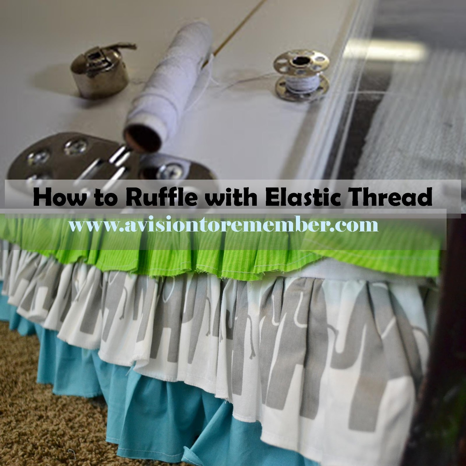how to ruffle with elastic thread