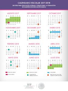 Calendario escolar 2017-2018 SEP