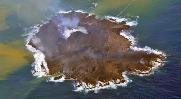Pulau Baru Muncul di Jepang Karena Erupsi Gunung Api