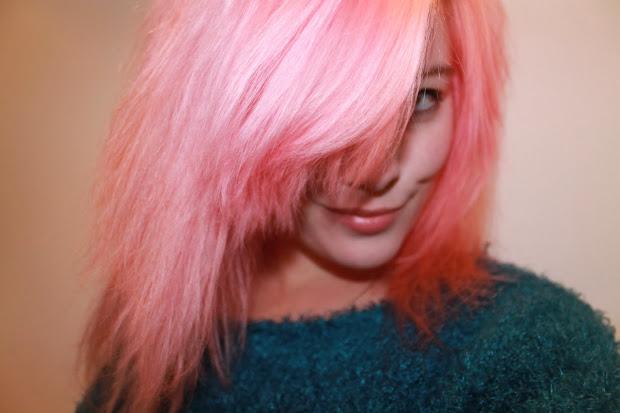 bleach london - awkward peach hair