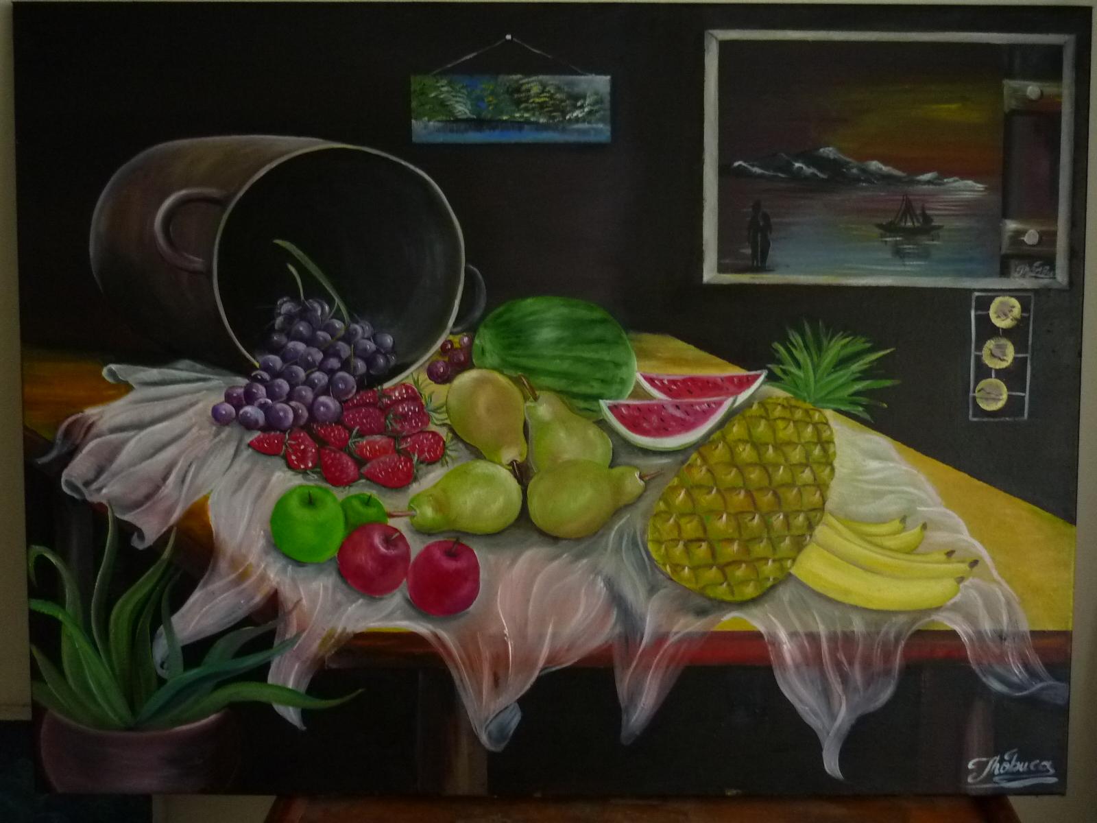 Pinturas de fruteros al oleo - Imagui