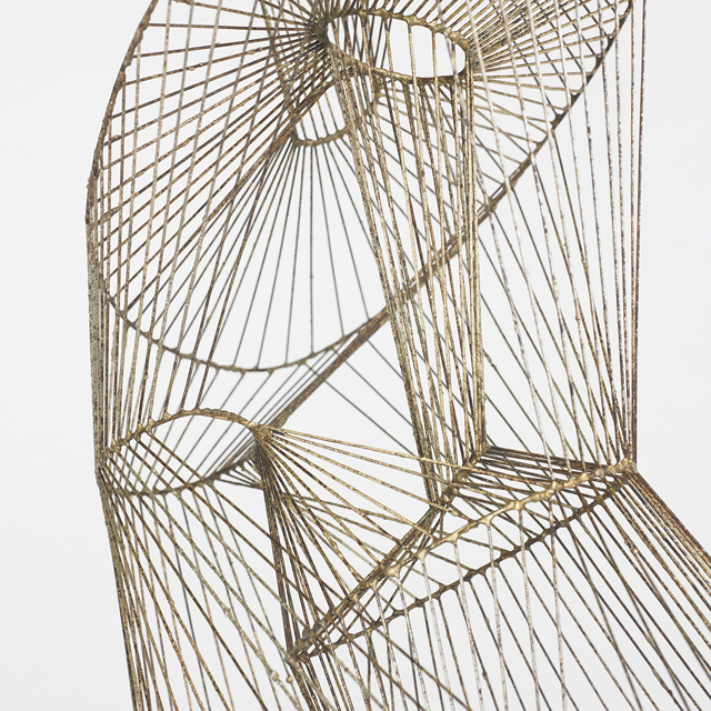 Bertoia diamond chair - Wire Form Melt Coated Brass Over Steel Wright Bertoia S Diamond Chair
