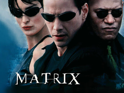 A poster for The Matrix movie