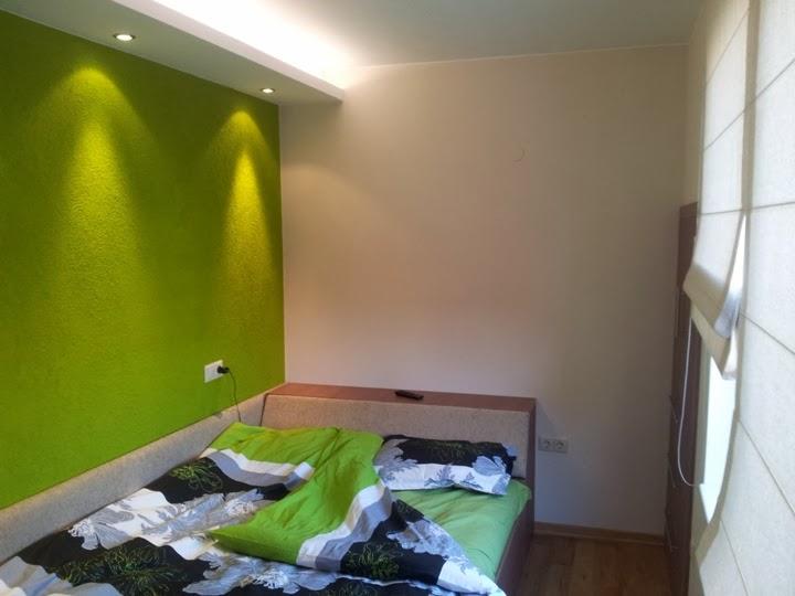 Малка спалня с индиректно осветление и усвоени ниши 1