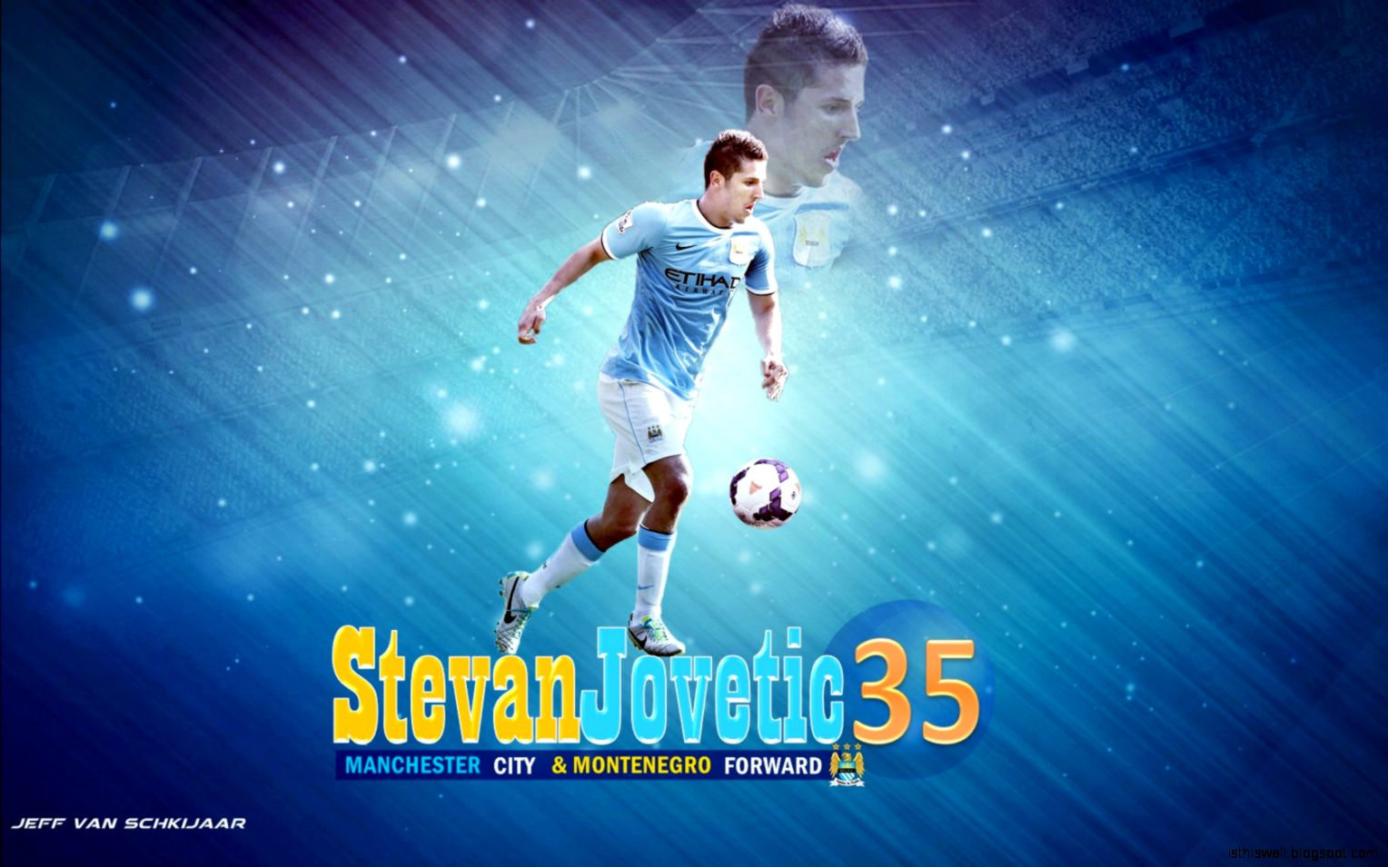 Free Wallpapers   Stevan Jovetic Manchester City wallpaper