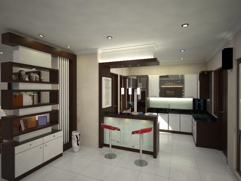 pembatas ruang tamu dan dapur