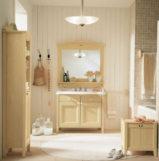 Baños Modernos Beige:Beige Bathroom Design Ideas