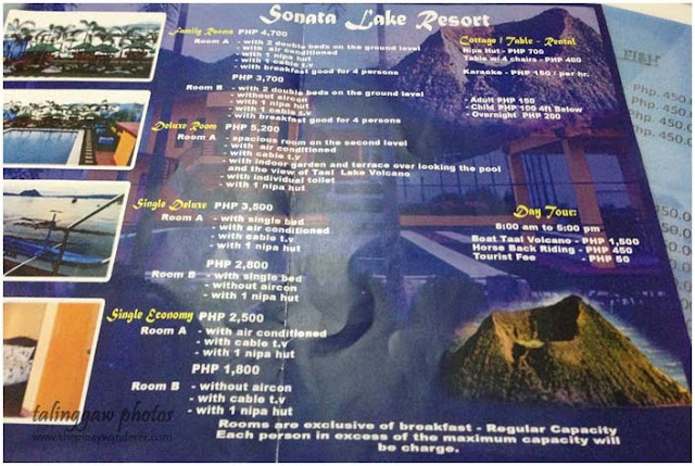 Sonata Lake Resort Rates