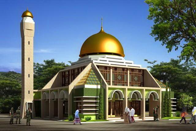 Contoh Desain Masjid  Desain Properti Indonesia